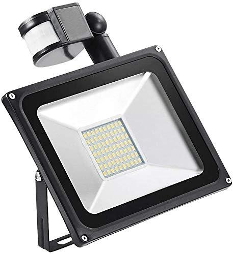 XXZJD Reflectores LED Luz del Sensor De Movimiento, Al Aire Libre Luz Inteligente, Luz Nocturna IP65 PIR Super Brillante Luces De Seguridad para Jardín, Yarda (Color : Warm White, Size : 50 w)