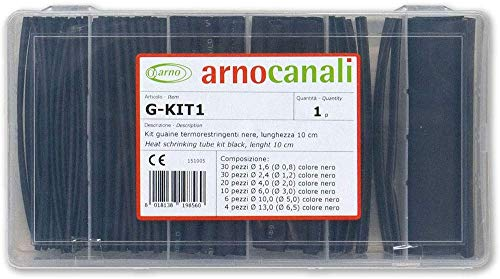 Arnocanali - Kit guaine termorestringenti nere 100 pezzi