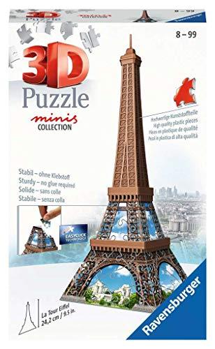 Ravensburger 12536 - Puzzle 3D (54 Piezas, a Partir de 8 años), diseño de la Torre Eiffel