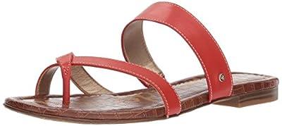 Sam Edelman Women's Bernice Slide Sandal, Candy red, 6 M US