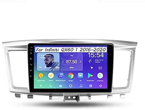 Android 10.0 Coche Estéreo GPS Unidad de la cabeza Navegación para Infiniti QX60 2016-2020 9 pulgadas Pantalla táctil Auto Sat Nav SWC en línea / Offline Map MultiMedia Player,4 Core 4G+WiFi:1+16GB