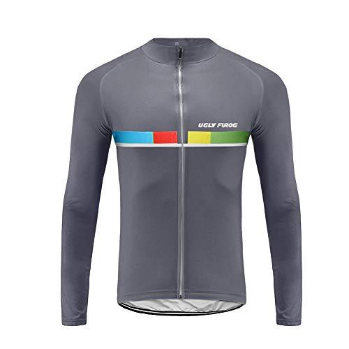 Uglyfrog Mens Cycling Jerseys, Long Sleeve Cycle Tops, Mountain Bike/MTB Shirt, Reflective Biking Bicycle Clothes, Great Cyclist Gifts, Quick Dry Size XS-4XL