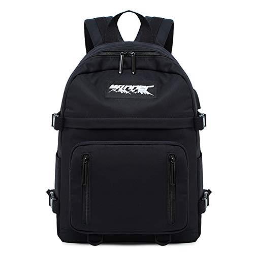 FANDARE Casual Daypacks Backpacks Lover School Bag Girls College Backpack with USB Charging Port Knapsack Bookbag for Women Men Teens Outdoor Travel Shopping Work Camping Rucksack Durable Black