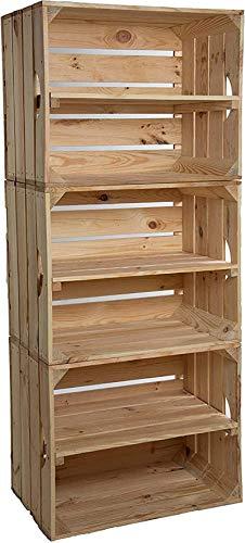 Ranura de calzado ajustable Organizador de zapatos Conjunto de 3 cajas de estantería de estantería de libros sólidos cajas de zapatos con caja de manzana central caja de manzana caja de vino Rack de s