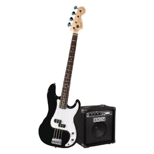 Squier by Fender Stop Dreaming-Start Playing Set: Affinity P Bass w/Rumble 15 Amp, Black