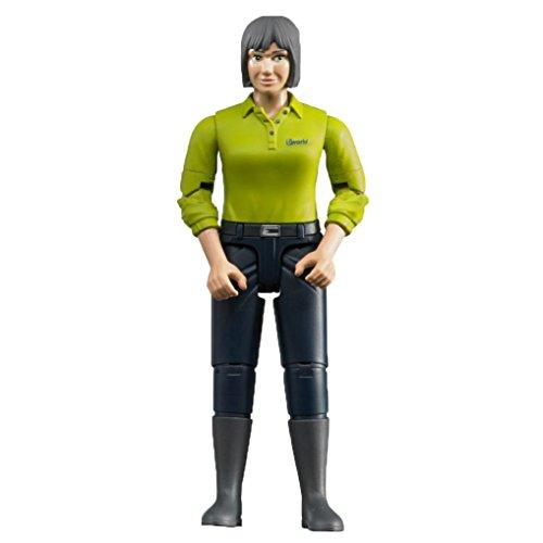 Bruder 60405 minifiguur-bworld vrouw met licht huidtype en donkerblauwe broek