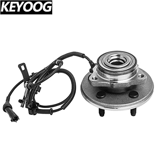 KEYOOG 1Pcs Front Wheel Hub and Bearing Assembly For 06-10 Ford Explorer 07-10 Ford Explorer Sport Trac (Exc.Explorer Sport),06-10 Mercury Mountaineer 515078 [ 5 Lug W/ABS ]