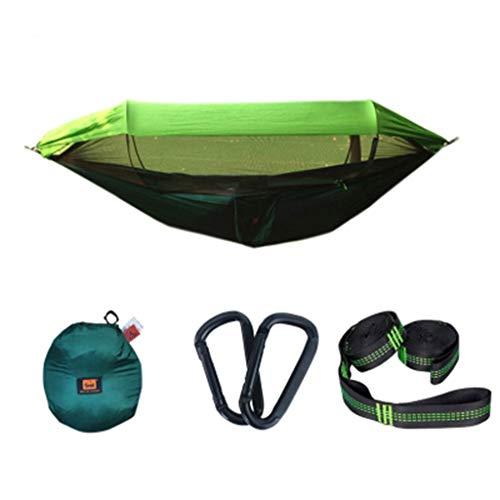 HEG Hamaca al aire libre con protección solar de apertura rápida, mosquitera, resistente al viento, impermeable, para acampar fuera del sitio, hamaca doble (color: D, tamaño: S)