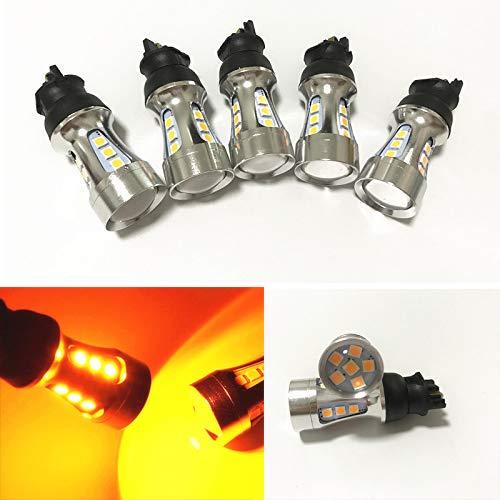 GFJMC 2 Super Bright Canbus Amber Error Free PWY24W PW24W LED Bulbs Front Turn Signal Lights
