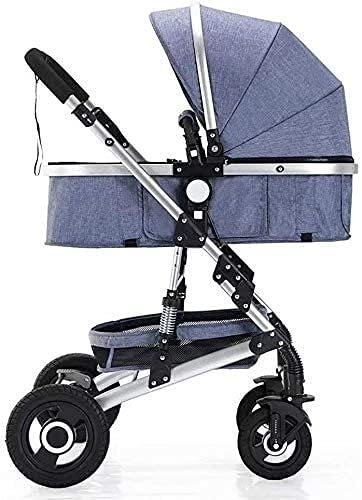 De peso ligero del cochecito de bebé del cochecito de bebé portátil portátil carro de bebé cochecito ligero plegable-cochecito de bebé, cochecito con 5 posiciones de transporte seguras High View marco