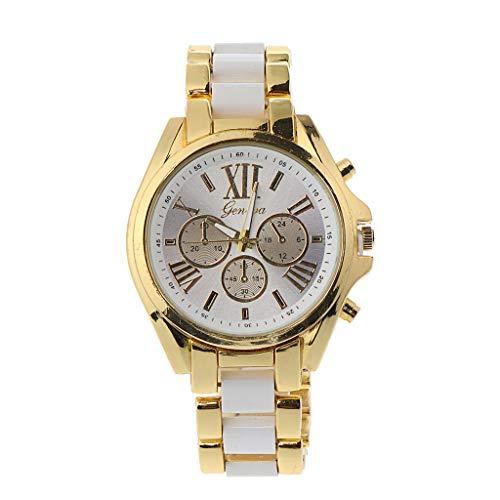 Manman Relojes para Hombres de Negocios A la Venta Liquidación, Relojes para Hombres, Reloj de Pulsera analógico de Cuarzo de Acero Inoxidable para Hombres clásico, (Blanco)