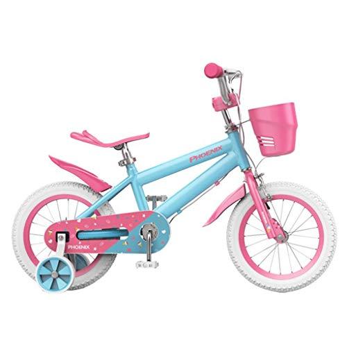 Dsrgwe Bicicletas Infantiles Niños Niñas Niños Bicicleta de Pedales de Bicicleta con Ruedas de Entrenamiento y Coaster Brake 85% montado (Size : 12inch)