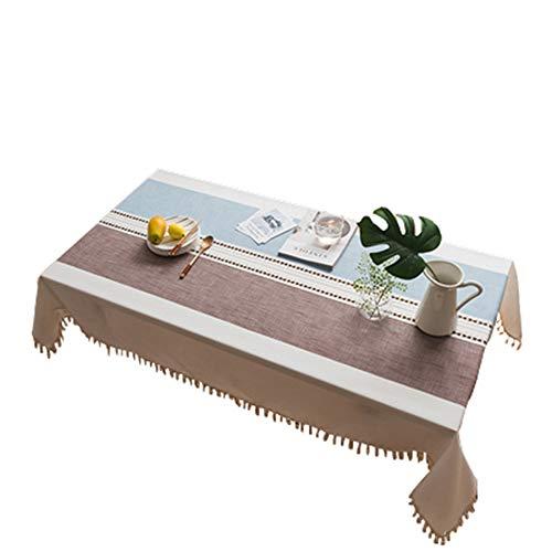 MOCHENG Nappe de Cuisine rectangulaire Motif Rayures, C, 55.12X39.37 inch