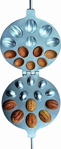 MiGiris Oreschki Waffeleisen Nussbäcker, Zaubernuss form Oreschniza, Backform für gefüllte Plätzchen