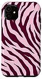 iPhone 11 Cute Tiger Pink Purple Jam Stripes Print Wild Animal Pattern Case