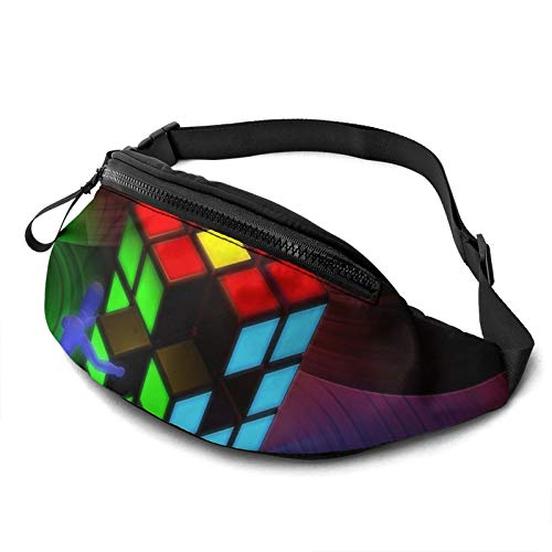 Gkf Waist Pack Bag for Men&Women, Magic Cube Design Utility Hip Pack Bag with Adjustable Strap for Workout Traveling Casual Running