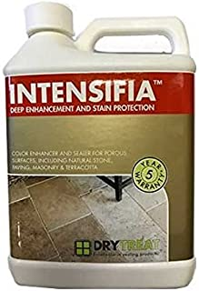 DryTreat INTENSIFIA - 1 Gallon (3.79 L) - Combination Enhancer and Sealer for Natural Stone, Masonry, patios, driveways, Floors, countertops, garages, and More
