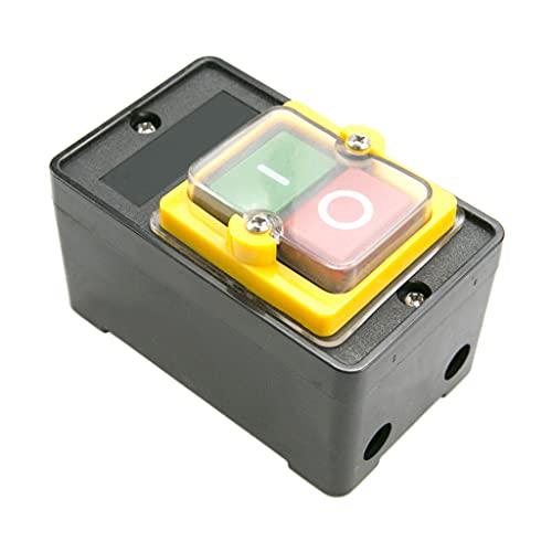 FEILINKA Interruptor de botón impermeable 10A para KAO-10KH operación sensible inicio parada interruptor 380V banco taladro interruptor trifásico