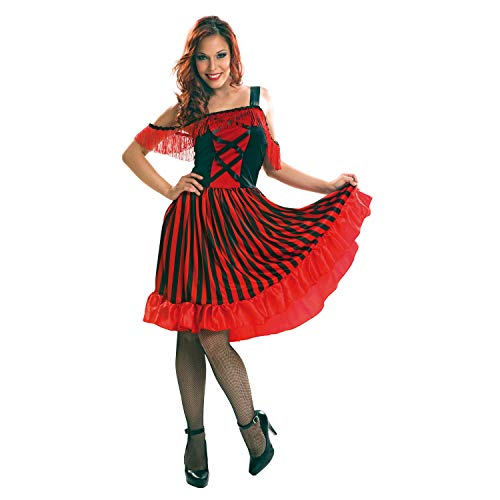 Desconocido My Other Me-200900 Saloon Disfraz Can para mujer, M-L (Viving Costumes 200900)