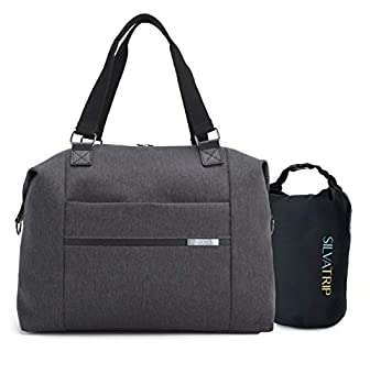 Silvatrip Carry On Travel Tote Bag for Women with Luggage Sleeve - Weekender Tote - Personal Item Carry On Bag - Underseat Carry on Luggage