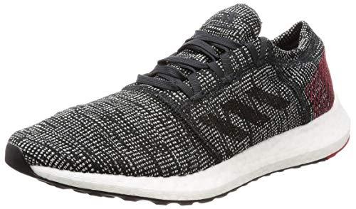 adidas Men's Pureboost Element Running Shoes, Black (Core Black/Core Black/Scarlet), 3.5 UK