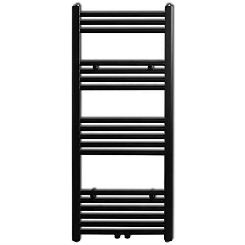 Cikonielf Radiador Toallero de Pared, 500 x 1160 mm, Radiator Calentador y Secador de Toallas, Toalleros de Agua Caliente Calefacción, Negro