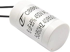 CompStudio 1PC CBB60 AC450V 50/60Hz 6uF Starting Capacitor Washing Machine Pump Motor