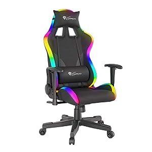 GENESIS Trit 600 RGB Silla para Videojuegos, Negro