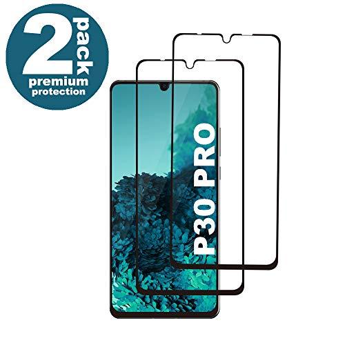 KUTUKU Huawei P30 Pro Panzerglas Schutzfolie, [2 Stück] [Case Friendly] [9H Härte] [Anti-Kratzer] [Anti-Fingerabdruck] [Blasenfrei] Hohe Qualität GehärtetemPanzerglasfolie für Huawei P30 Pro