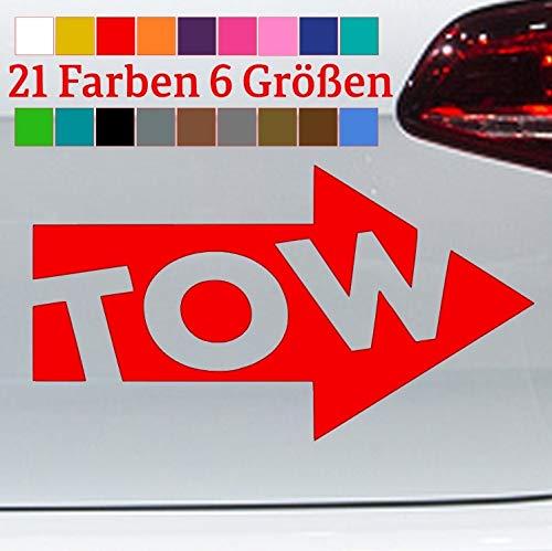 Generisch Abschlepp Aufkleber Sicker Tow Pfeil Panne Abschlepphaken Makierung JDM Dub Fun in 6 Größen und 21 Farben