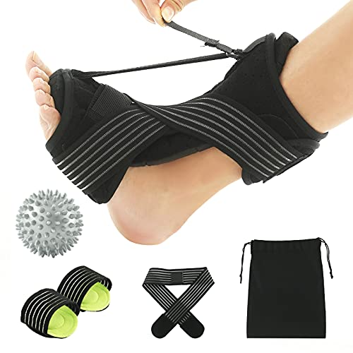 Plantar Fasciitis Night Splint , Upgraded Multi Adjustable Ankle Brace Foot Drop Orthotic Brace for Plantar Fasciitis, Arch Foot Pain,Achilles Tendonitis Support for Women, Men