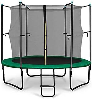 comprar comparacion Klarfit Rocketstart 250 Cama elástica trampolin con Red de Seguridad (Superficie Base 250 cm diametro, sujecion 3 Patas Do...