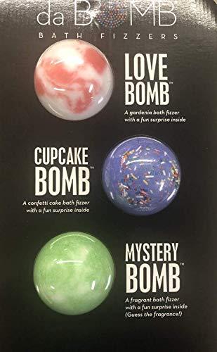 da BOMB Bath Fizzers 3 Piece Set, Made in The USA (3 Bomb) (Love-Cupcake-Mystery)