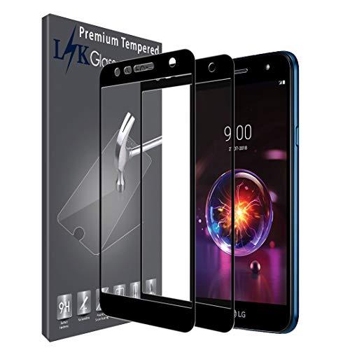 LK [2 Stück Schutzfolie für LG X Power 3, LG X Power 3 Panzerglasfolie, Full Cover Gehärtetem Glas Hartglas Bildschirmschutzfolie