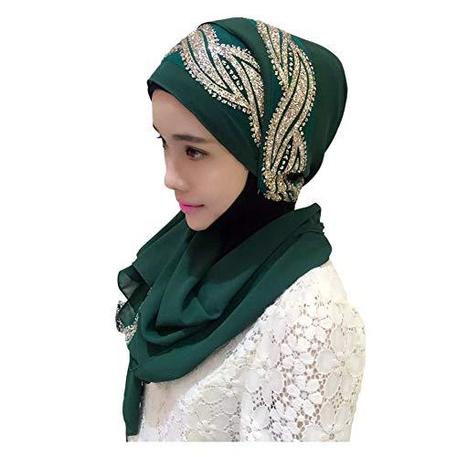 Deylaying Hijab Kopftuch für Muslimische - Damen Wrap Schal Turban Islamische Ramadan-Tücher Vollständige Abdeckung Elastizität Kopfbedeckung