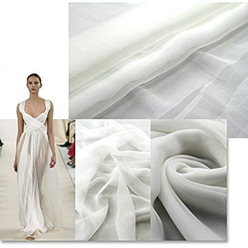 100% Pure Silk Chiffon Fabric by The Yard, 48 Colors