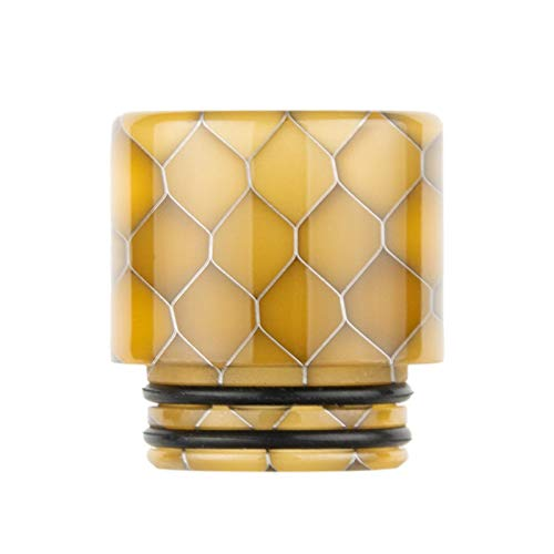 Drip Tip 810 Resin Harz Verdampfer Mundstück Honeycomb Driptip Schlange (G - Gelb)