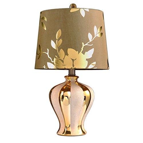 LILY Moderne minimalistische europäische Keramiklampe - Schlafzimmer Nachttischlampe Luxus Gold Chinesisch Stil Tischlampe Wohnzimmer Studie