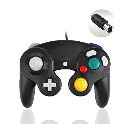 Reiso 1 Pack NGC Controller Classic Wired Controller for Wii Gamecube (Black)