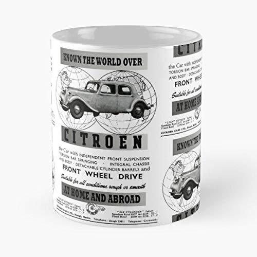 Desconocido France Citroen Big Cylinder French Car 15 Cars Six Light Taza de café con Leche 11 oz