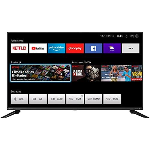 Smart TV, PTV40G60SNBL, 40' Polegadas, Tela LED, Conexão Wi-Fi, Entradas HDMI e USB, Processador Quad Core, Philco