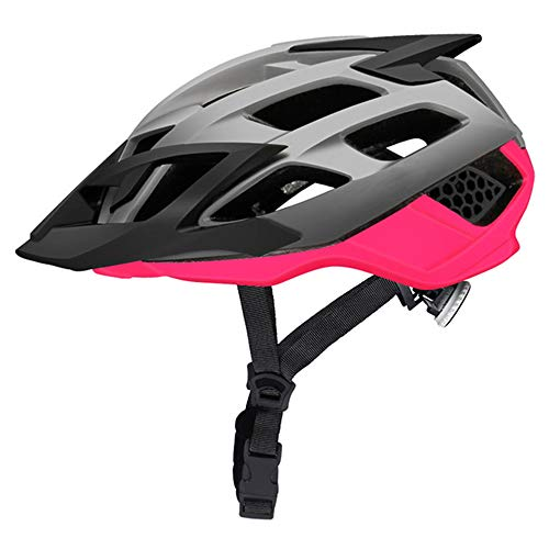 Fahrradhelm ZWRY Mountainbike-Helm MTB Fahrradhelm mit abnehmbarem Visier Ultraleichter Sport Offroad M Fuchsia Pink 1