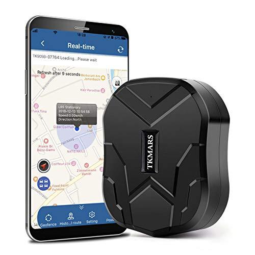 Hanguang GPS-Tracker, 150 Tage Standby Wasserdichter GPS-Ortungsgerät mit Geo-Zaun-Alarm GPS-Positions-Tracker für PKW/LKW/Motorrad/Boot mit kostenloser Anwendung