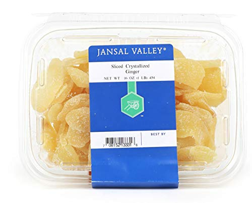 Jansal Valley Sliced Crystallized Ginger, 1 Pound