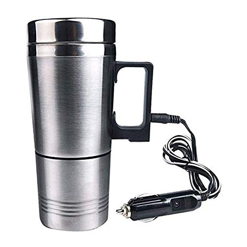 Taza de viaje de acero inoxidable de 300 ml, taza de viaje térmica, taza de viaje portátil, calentador de agua, termo eléctrico, taza de café (24 V)