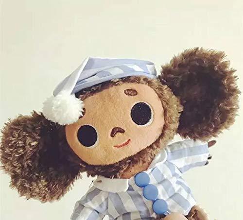Juguete de peluche Mono de juguete 18cm Rusia Orejas grandes Mono con el sombrero de peluche de juguete muñeca suave Cheburashka Rusia animado bebé de juguete de niños del sueño Appease muñeca
