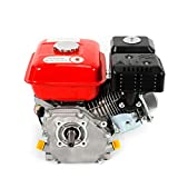 Motor de gasolina 7.5 HP Motor Standmotor 5.1 kW 4 tiempos 3600 rpm Motor de accionamiento, refrigerado por aire, Ölmangelsicherung, 20 mm onda (rojo)