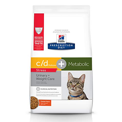 Hill's Prescription Diet Metabolic + Urinary Stress, Weight + Urinary Care Chicken Flavor Dry Cat Food, 6.35 lb bag