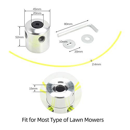 Rosnek Universal Aluminium Trimmer Head Grass Cutting Brush Cutter Lawn Mower Gas Petrol Strimmer Tool