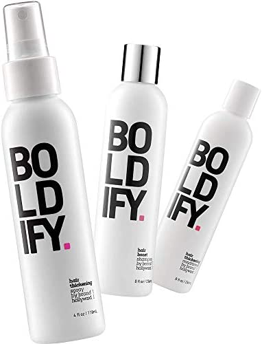Thickening Spray Shampoo Conditioner Boldify Hair Thickening Bundle Volume Root Lift Texture product image